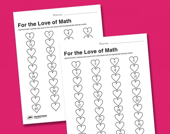 Worksheet Wednesday: For the Love of Math