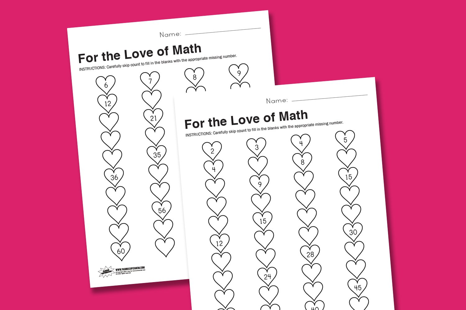 worksheet wednesday for the love of math paging supermom. Black Bedroom Furniture Sets. Home Design Ideas