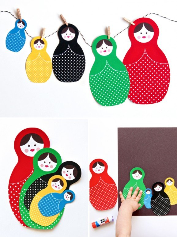 Download Free Printable Matroyshka Russian Dolls for the Sochi Winter Olympics at PagingSupermom.com