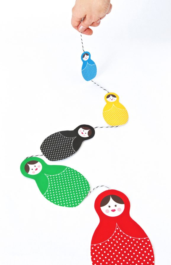 Download Free Printable Matroyshka Dolls for the Sochi Winter Olympics at PagingSupermom.com