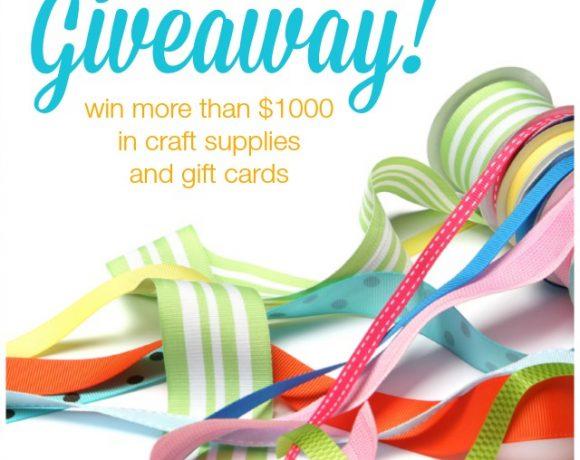 $1000 Craft Room Giveaway