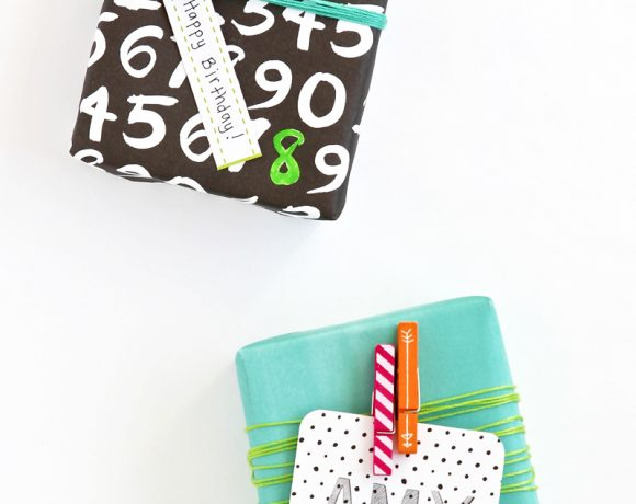 Gift Wrap Ideas From Scrapbook Supplies