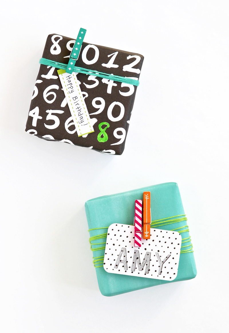 Amy Tangerine Plus One as Gift Wrap via @PagingSupermom