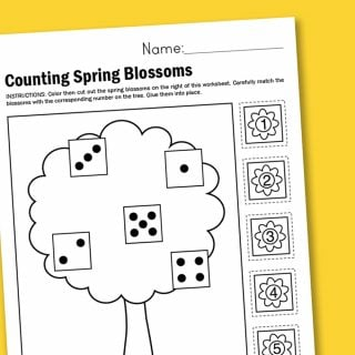 Worksheet Wednesday: Counting Spring Blossoms