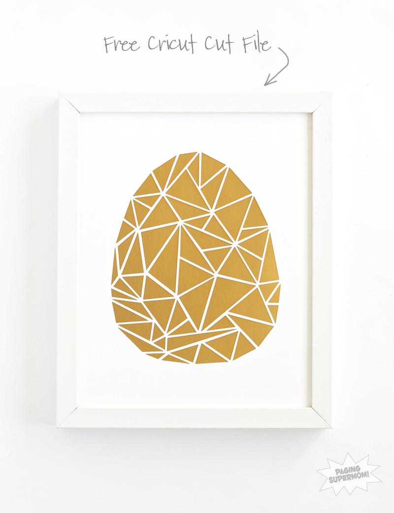 Cricut Explore Cut File for Cracked Egg Art - Paging Supermom