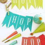 Free Printable Hop, Hop Easter Decor