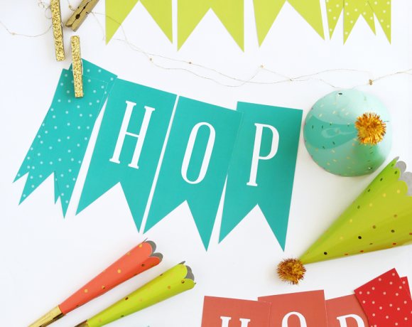 Free Printable Hop, Hop Easter Decor