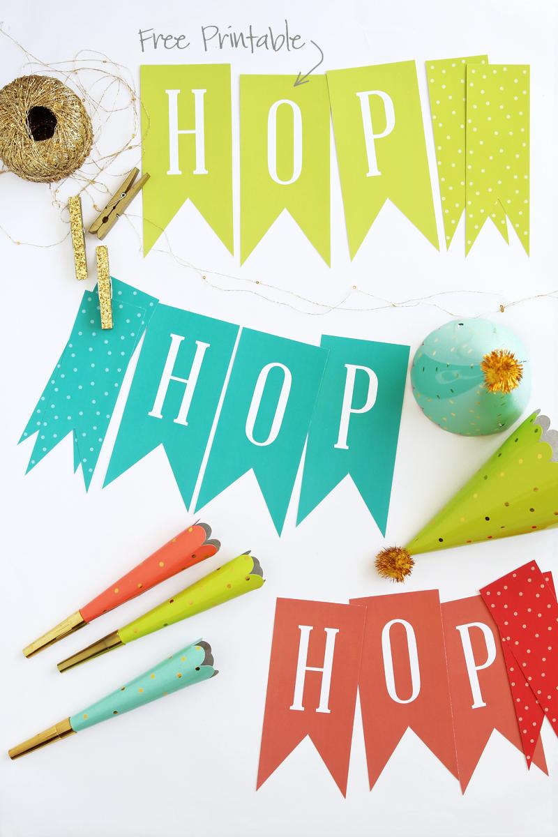 Free Printable Hop, Hop Easter Decor - Paging Supermom