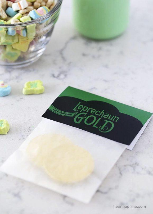 Free Printable Leprechaun Gold Tag via @PagingSupermom