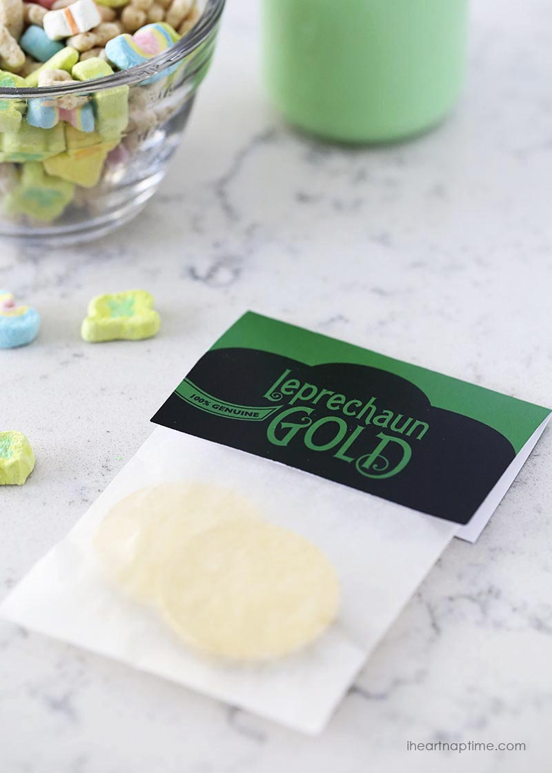 Free Printable Leprechaun Gold St. Patrick's Day Gift Tags via @PagingSupermom