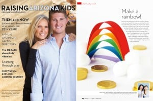 Raising Arizona Kids Magazine March - Easy Rainbow Kids Craft with supplies from around the house via @PagingSupermom