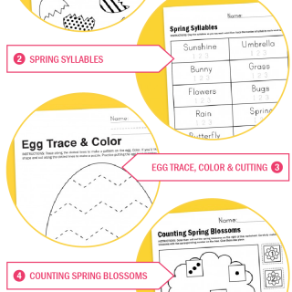 Free Printable Worksheets for Spring