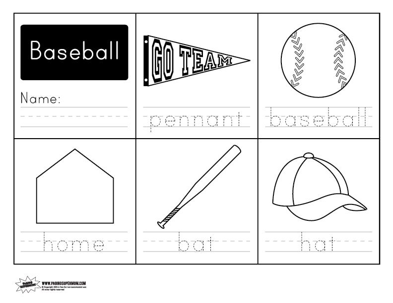 Baseball Math Worksheets Baseball Math Cut Do And Glue Activities – Baseball Worksheets
