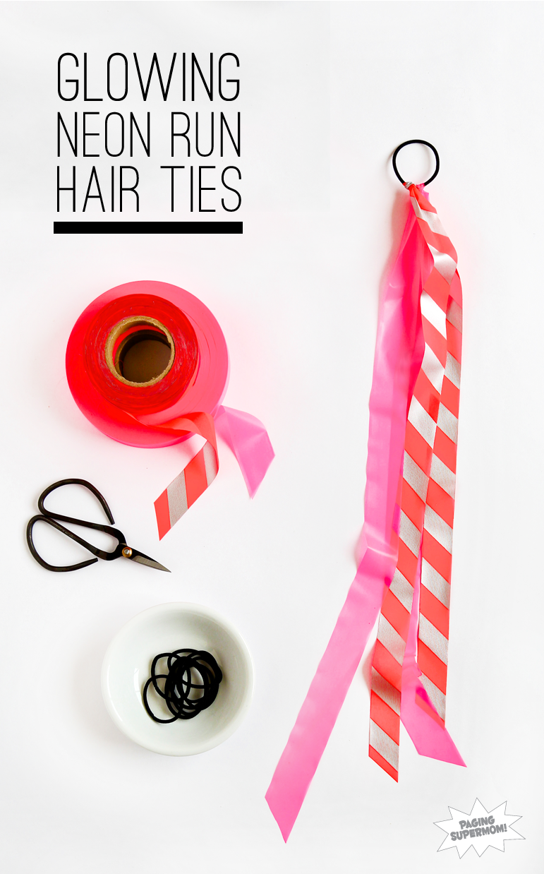 DIY-Neon-Color-Run-Hair-Ties