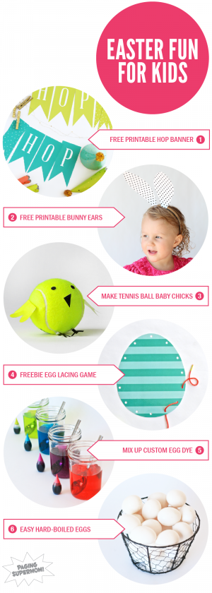 Lots of Free Printables and fun Easter ideas for kids via @PagingSupermom