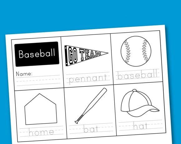 Worksheet Wednesday: Baseball Handwriting