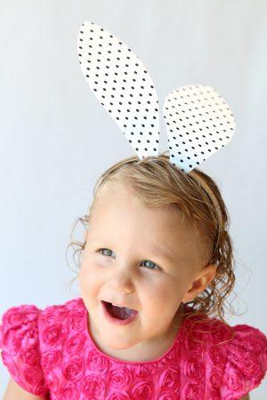 Free printable Polka Dot Bunny Ears via @PagingSupermom