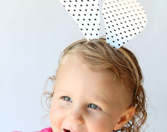 Free Printable Polka Dot Bunny Ears