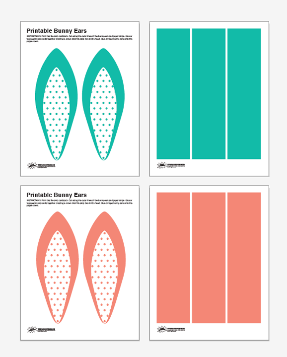 graphic relating to Bunny Ear Template Printable known as Cost-free Printable Polka Dot Bunny Ears - Paging Supermom