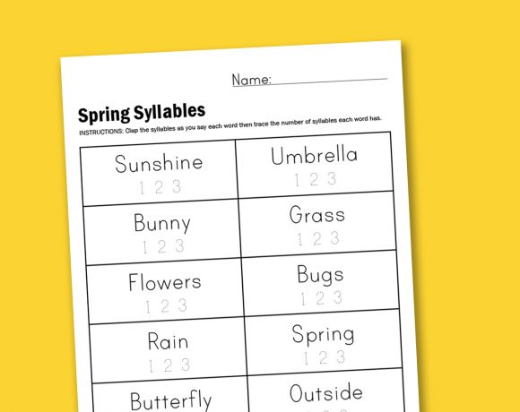 Worksheet Wednesday: Spring Syllables