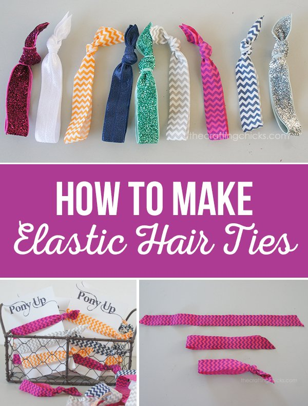 How to Make Elastic Hair Ties from The Crafting Chicks via @PagingSupermom