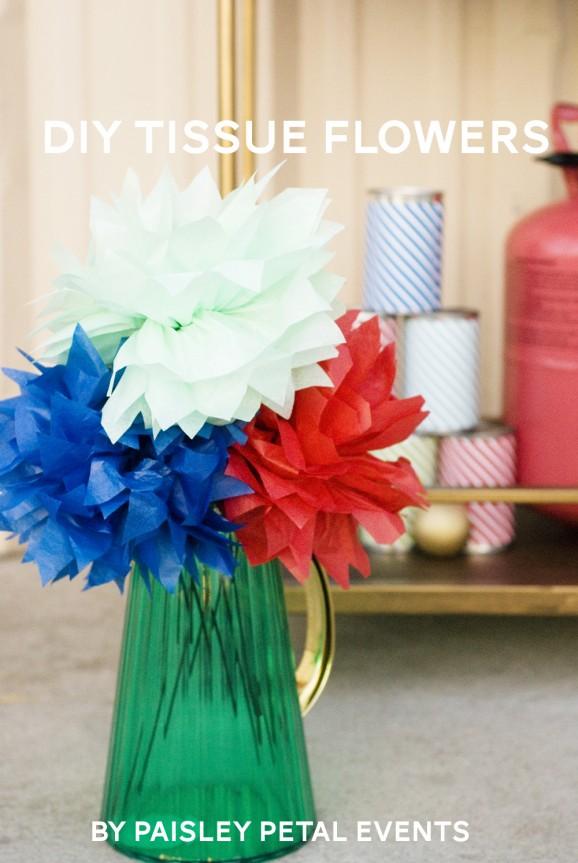 Tissue Paper Flowers via @PagingSupermom #ThePartyHop