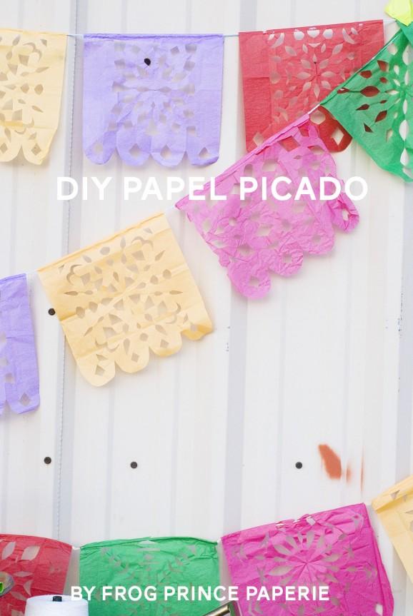 DIY Papel Picado via @PagingSupermom #thepartyhop
