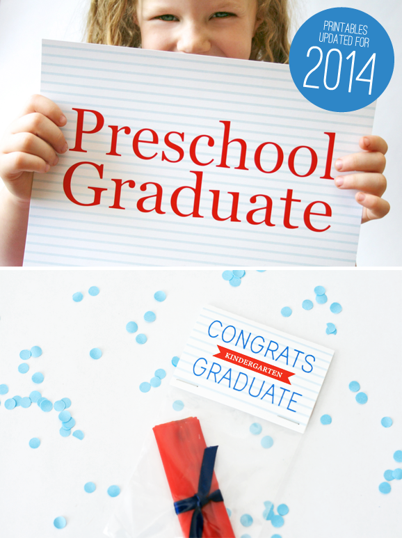 Graduation Photo Signs and Free Party Printables via @PagingSupermom