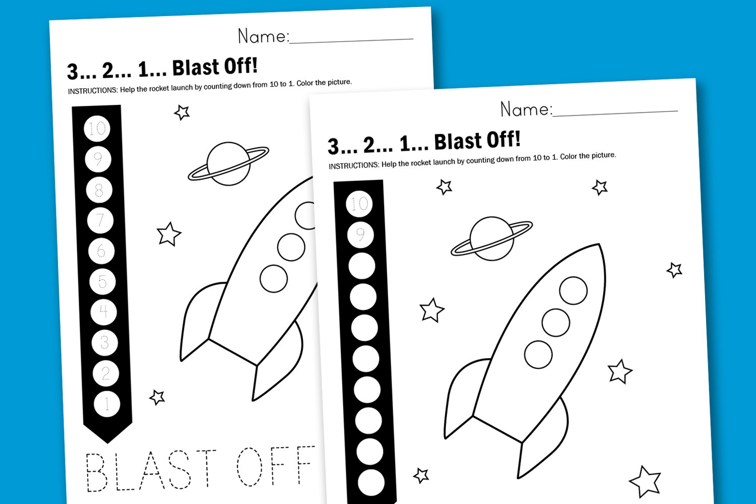 Worksheet Wednesday: 3…2…1… Blast Off! - Paging Supermom