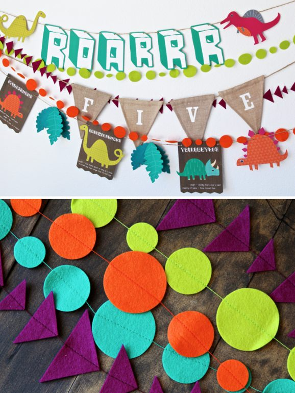 Cute Dinosaur Party Decor Ideas via @PagingSupermom