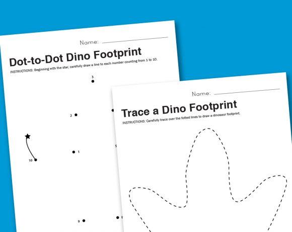 Worksheet Wednesday: Dinosaur Footprint