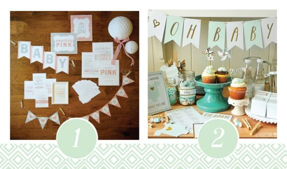 1 & 2 of FOURTEEN Fabulous Baby Shower Printable Packs All Ready to GO! via @PagingSupermom