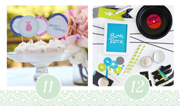 11 & 12 of FOURTEEN Fabulous Baby Shower Printable Packs All Ready to GO! via @PagingSupermom
