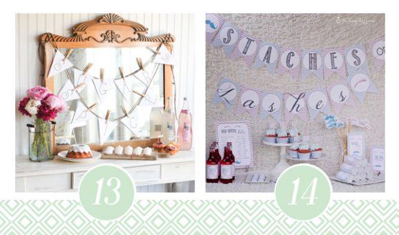 13 & 14 of FOURTEEN Fabulous Baby Shower Printable Packs All Ready to GO! via @PagingSupermom