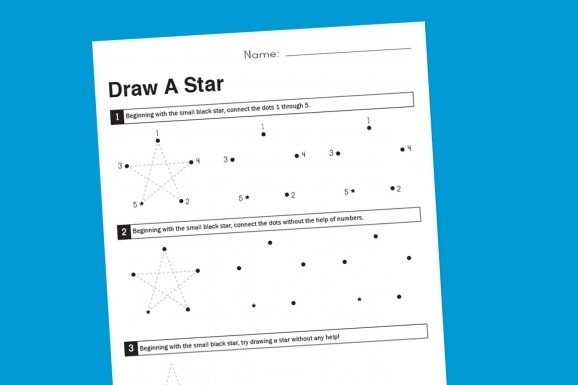 Worksheet Wednesday: How To Draw A Star