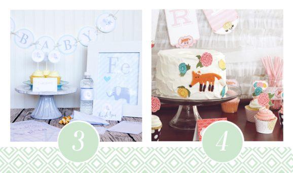3 & 4 of FOURTEEN Fabulous Baby Shower Printable Packs All Ready to GO! via @PagingSupermom