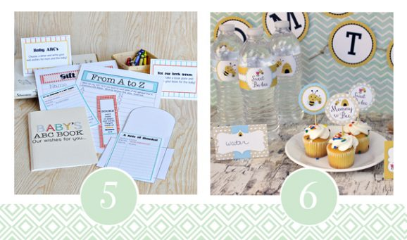 5 & 6 of FOURTEEN Fabulous Baby Shower Printable Packs All Ready to GO! via @PagingSupermom