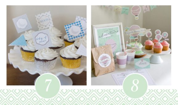 7 & 8 of FOURTEEN Fabulous Baby Shower Printable Packs All Ready to GO! via @PagingSupermom