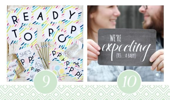9 & 10 of FOURTEEN Fabulous Baby Shower Printable Packs All Ready to GO! via @PagingSupermom