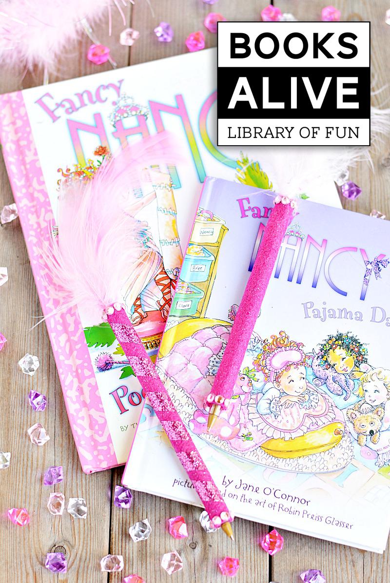 Fun Craft inspired by the Fancy Nancy Books via @PagingSupermom
