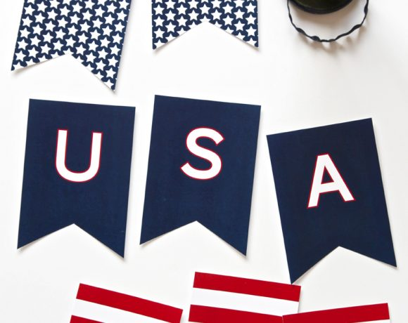 Free Printable USA Banner for July 4th