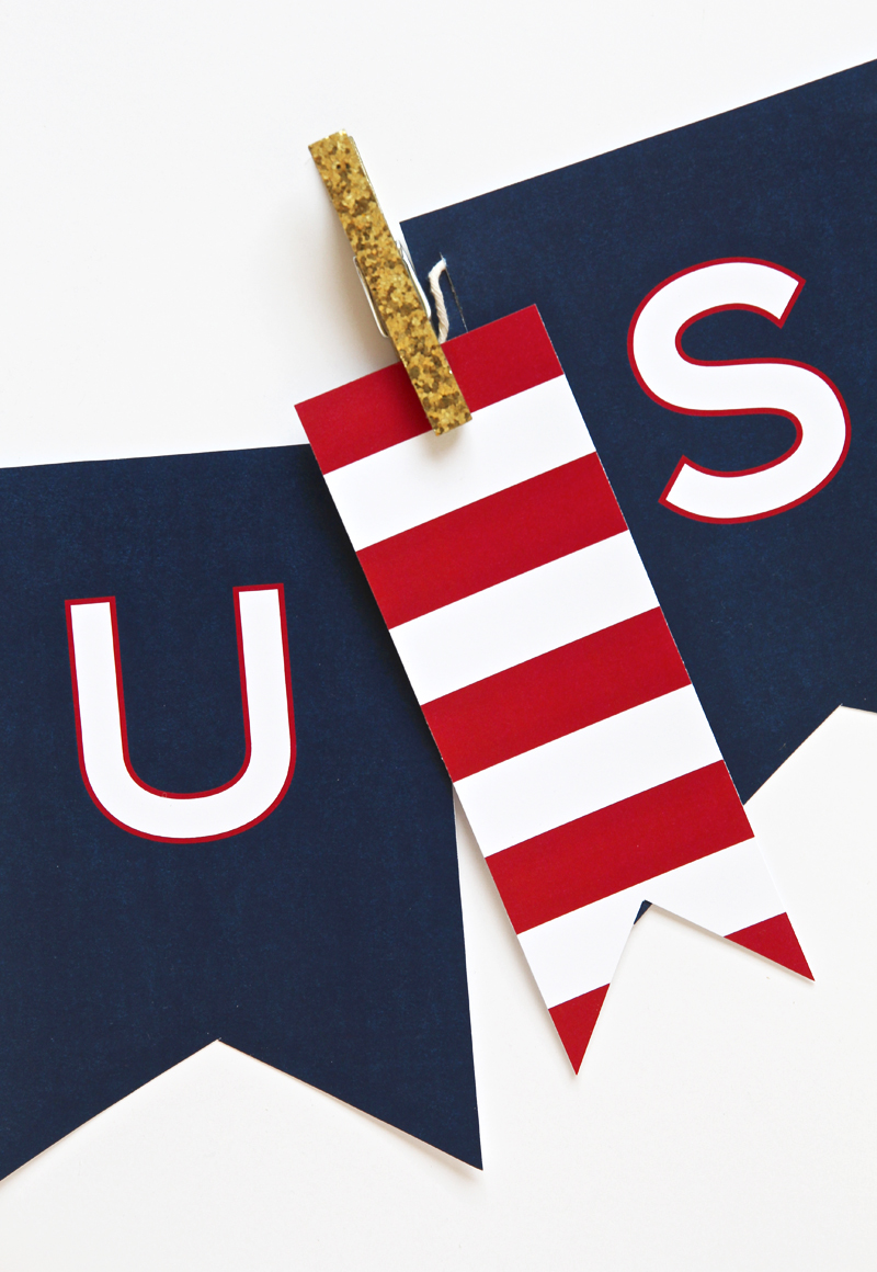 Free Printable Patriotic Banner for the Fourth of July via @PagingSupermom