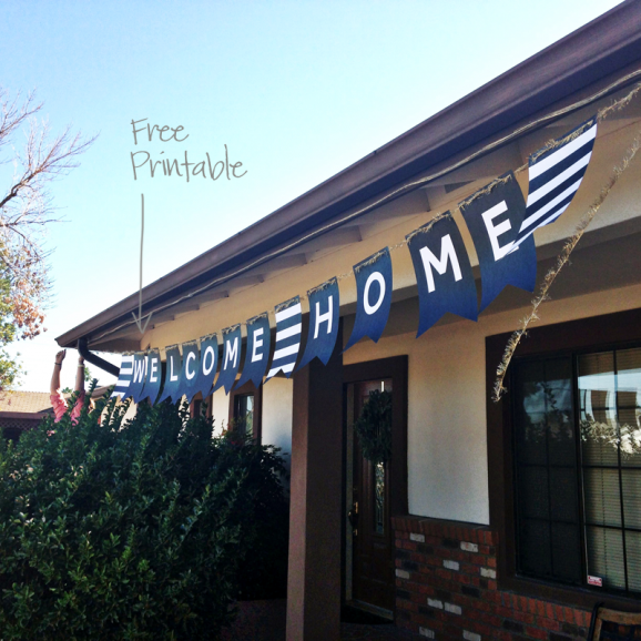 XL Free Printable Welcome Home Banner via @PagingSupermom