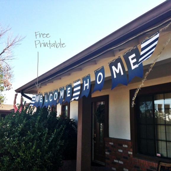 XL Free Printable Welcome Home Banner via @PagingSupermom