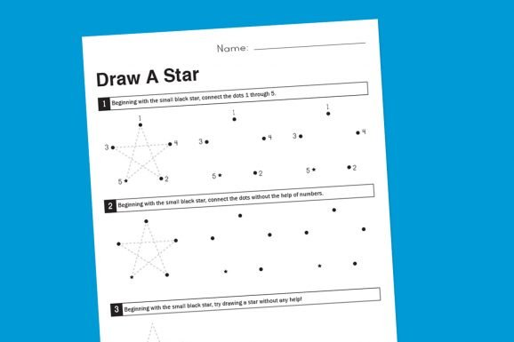 How-To-Draw-A-Star-Printable-Worksheet