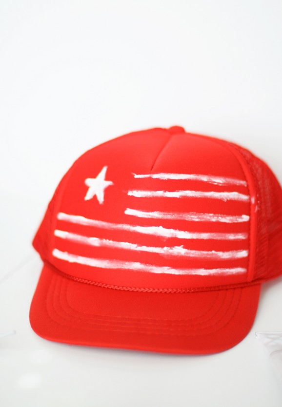 Patriotic Cap Tutorial from Small Fry via @PagingSupermom