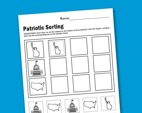 Worksheet Wednesday: Patriotic Sorting