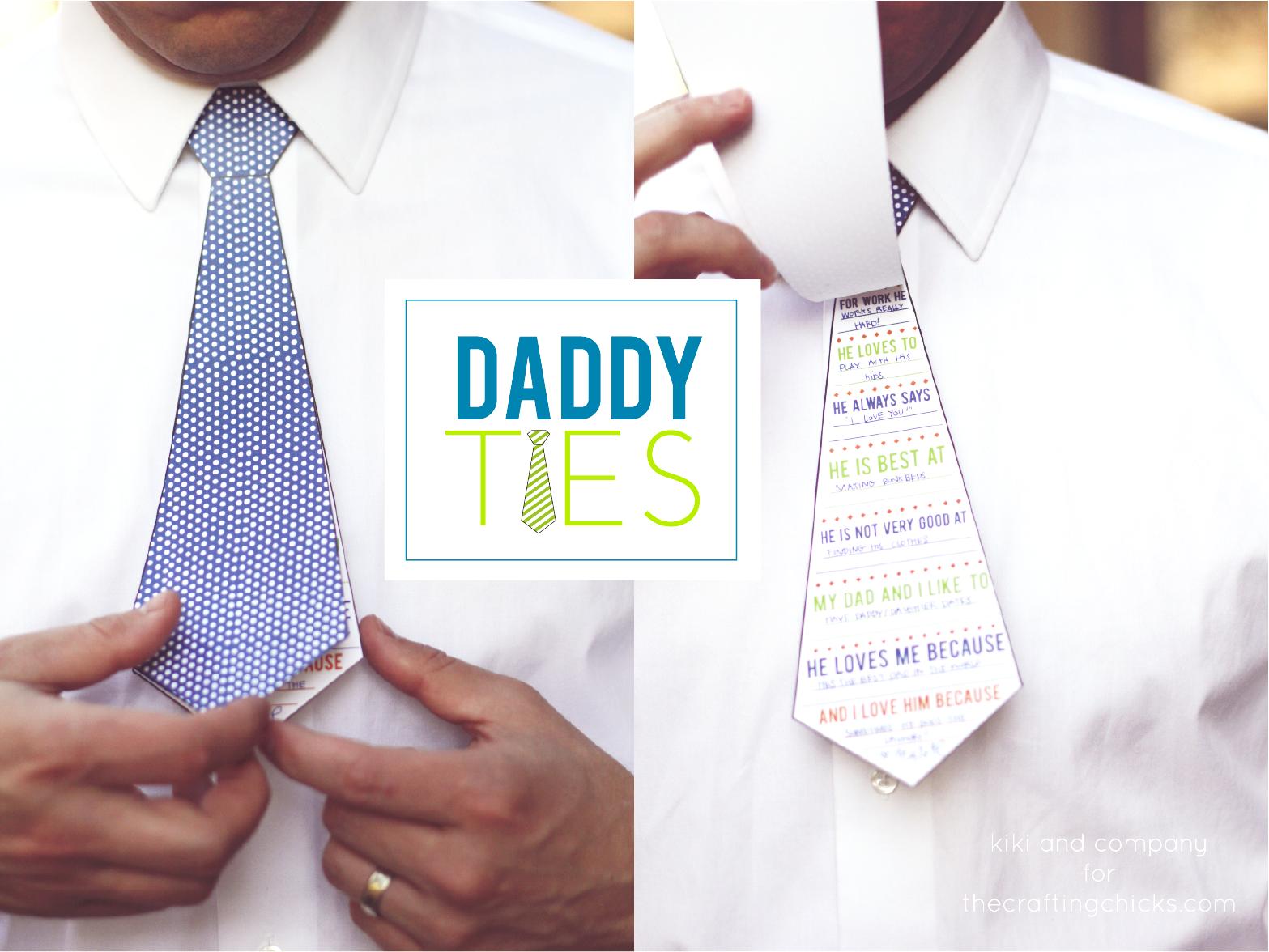 Free Printable Daddy Ties with Surveys - so cute! via @PagingSupermom