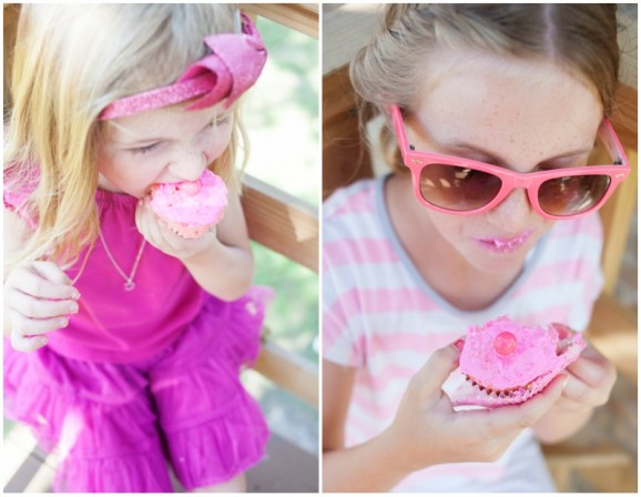 Make & Eat Pink Cupcakes to go along with the Pinkalicious book via @PagingSupermom