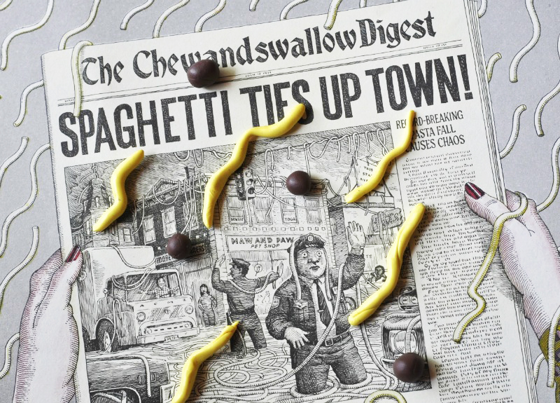 Spaghetti Ties up the Town from #CloudyWithAChanceofMeatballs via @PagingSupermom